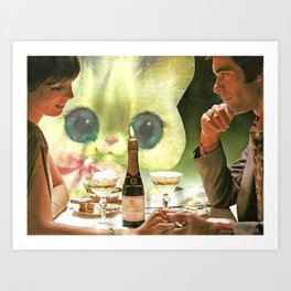 Third Wheel handcut collage Art Print