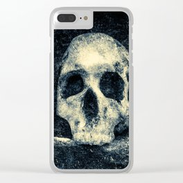 Old Skull - Memento Halloween Clear iPhone Case
