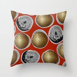RED, WHITE & GOLD Throw Pillow