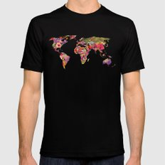 It's Your World Black Mens Fitted Tee LARGE