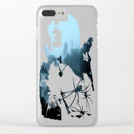 Strange Night: Ghost Light Clear iPhone Case