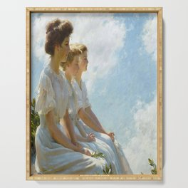 On the Heights Charles Courtney Curran Vintage Poster Serving Tray