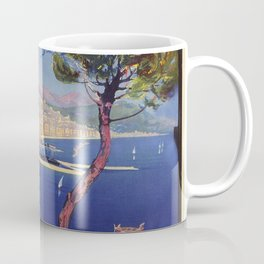 Salerno Italy vintage summer travel ad Coffee Mug