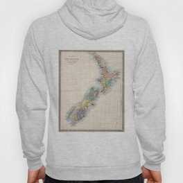 Vintage Map of New Zealand (1865) Hoody