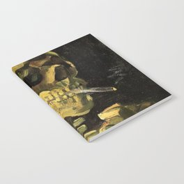 SKULL OF A SKELETON WITH A BURNING CIGARETTE Notebook