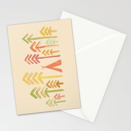 Tepee in the forest Stationery Cards