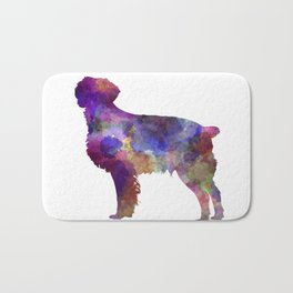 Brittany Spaniel in watercolor Bath Mat