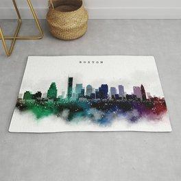 Boston Watercolor Skyline Rug
