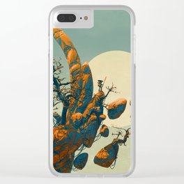 Floating Landscape Clear iPhone Case
