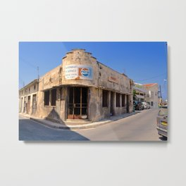 Paphos Old Supermarket (Colour Version) Metal Print