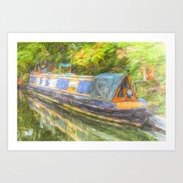 Narrow Boat Life Art Art Print