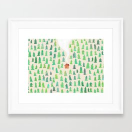 Alone in the woods Framed Art Print