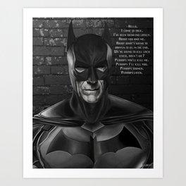 Batwood Art Print