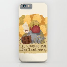 Take the Long Way iPhone Case