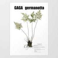 lady gaga Art Prints featuring Gaga germanotta by Duke Herbarium