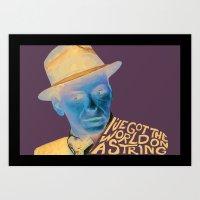 frank sinatra Art Prints featuring Frank Sinatra by MegThebeau