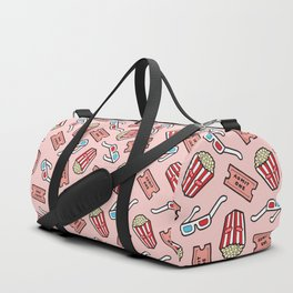Movie Pattern in Pastel Pink Duffle Bag