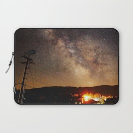 The Salty Raven of Cape Meares Milky Way Laptop Sleeve