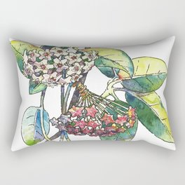 Light white-pink flower - HOYA Rectangular Pillow
