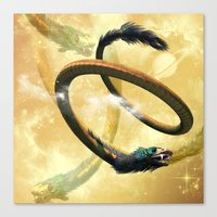 dragon Canvas Prints featuring Dragon by nicky2342