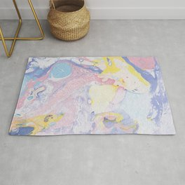 Colorful paper marble swirls Rug