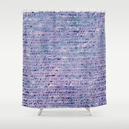 the stars died // text pattern 02 Shower Curtain