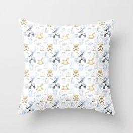 Baby Boy Fashion Pattern Throw Pillow