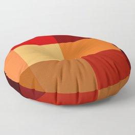 BLOCKS - RED TONES - 2 Floor Pillow
