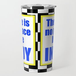 There Is No Place Like INDY, blue & yellow Travel Mug