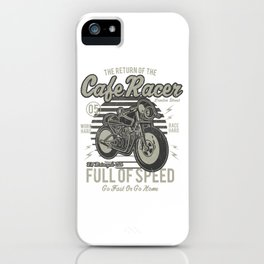 Caferacer Motorcycle Vintage Poster iPhone Case