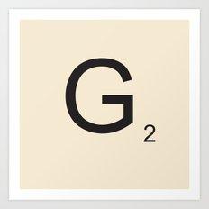 Scrabble G Art Print