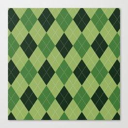 Argyle greens Canvas Print