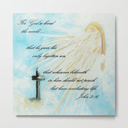 For God so Loved the World Metal Print