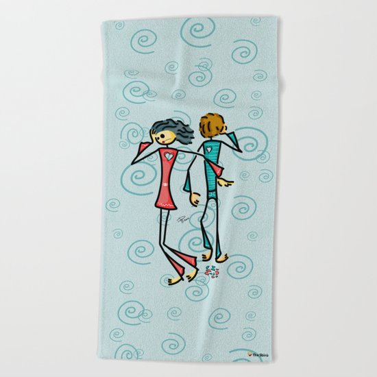 Broken Lovers Beach Towel