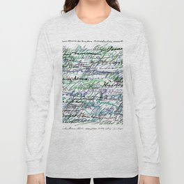 All The Presidents Signatures Teal Blue Long Sleeve T-shirt