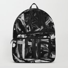 Black & White Abstract III Backpack