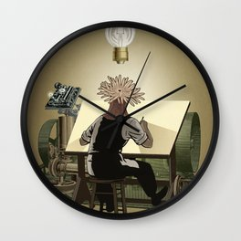The aspirant to draftsman Wall Clock