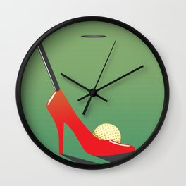 High heel putter Wall Clock