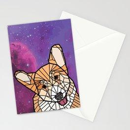 Space Dog - Mosaic Corgi Stationery Cards