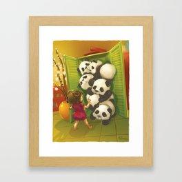 A cupboard of pandas Framed Art Print
