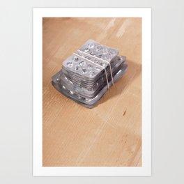 Blister pack addiction concept Art Print