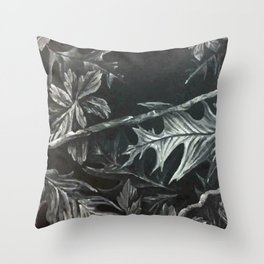 vectorized leaves Throw Pillow