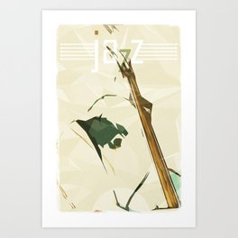 Contrabassist. Jazz Club Poster Art Print