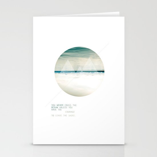 Leave the Shore Stationery Cards
