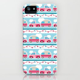 Glamping stripes iPhone Case