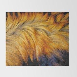 Cool brown textured animal horse tail fur design Throw Blanket