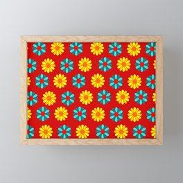 flowers carpet decor Framed Mini Art Print