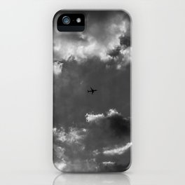 Plane and storm iPhone Case