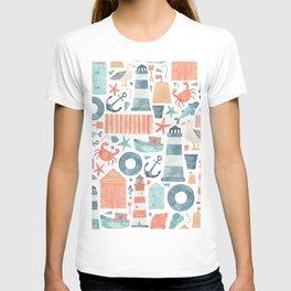 Nautical Watercolour Pattern! T-shirt