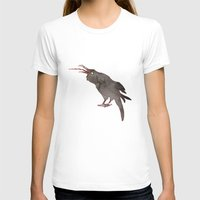crow T-shirts featuring CROW by auntikatar